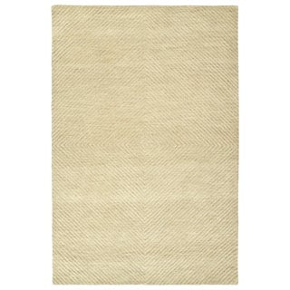 "Hand-Tufted Brantley Sand Wool Rug - 3'6"" x 5'6"""