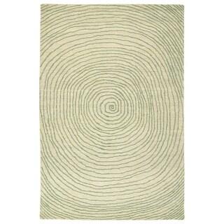 """Hand-Tufted Brantley Green Wool Rug - 3'6"""" x 5'6"""""""