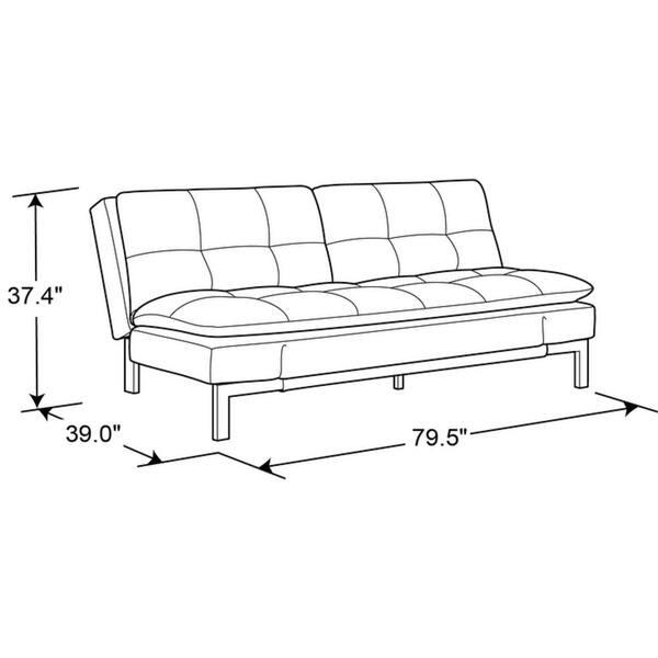 Phenomenal Shop Serta Barrett Convertible Sofa By Lifestyle Solutions Creativecarmelina Interior Chair Design Creativecarmelinacom