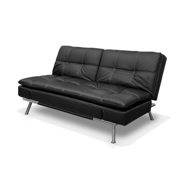 Prime Serta Montgomerey Faux Leather Pillow Top Convertible Sofa Download Free Architecture Designs Scobabritishbridgeorg