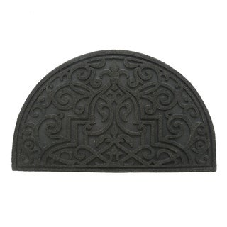 "Link to Stephan Roberts Gibraltar Scroll Slice Stone Recycled Rubber Doormat 18"" x 30"" Similar Items in Decorative Accessories"
