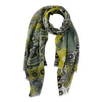 Handmade Veroma Women's Floral Olive Scarf (India)