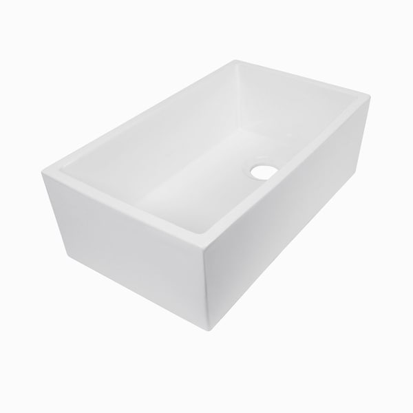 "MAYKKE Surrey 30"" Fireclay Farmhouse Kitchen Sink"