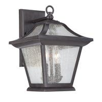 Acclaim Lighting Aiken Collection Wall-Mount 2-Light Outdoor Black Coral Light Fixture