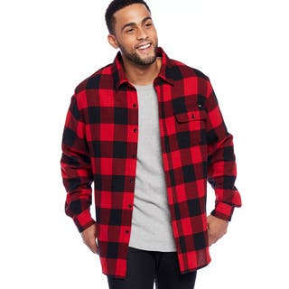 Stanley Men's Button Front Flannel Shirt|https://ak1.ostkcdn.com/images/products/18003329/P24174284.jpg?impolicy=medium