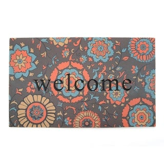 """Stephan Roberts Medallion Recycled Rubber Doormat 18"""" x 30"""""""