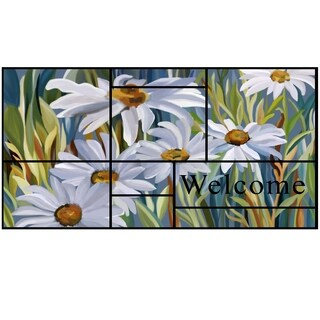"""Stephan Roberts Daisies Recycled Rubber Doormat 18"""" x 30"""""""
