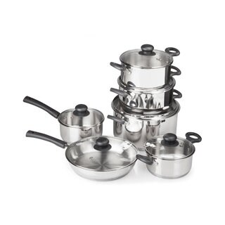 12 Piece Stainless Steel Gourmet Cook's Cookware Set