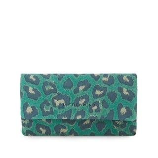 Liebeskind Berlin Cleo Orchid Green Leopard Clutch Wallet|https://ak1.ostkcdn.com/images/products/18003603/P24174530.jpg?impolicy=medium