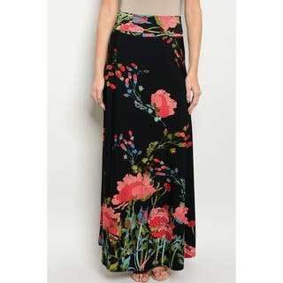 JED Women's High Waist Floral Print Maxi Skirt|https://ak1.ostkcdn.com/images/products/18003619/P24174541.jpg?impolicy=medium