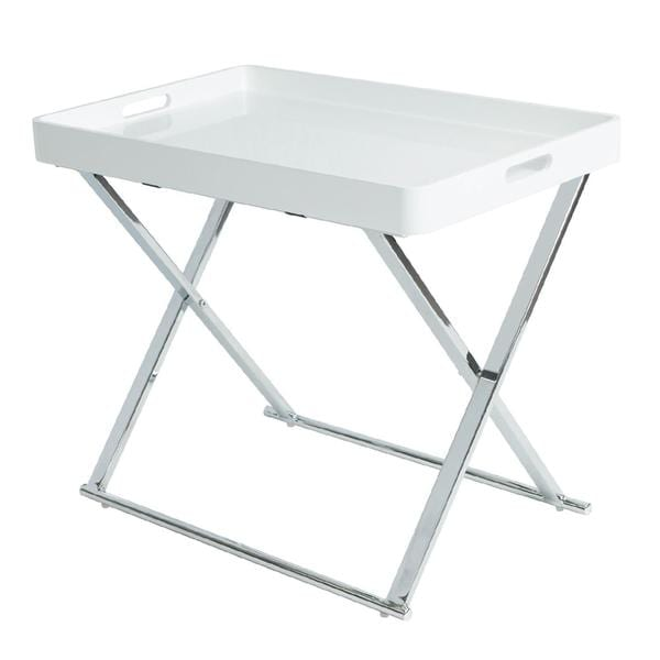 urb SPACE Manhattan Tray Table with Foldable, Steel Frame