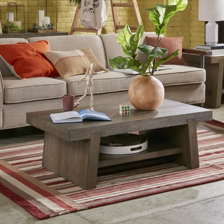 Ink+Ivy Westwood Grey Reclaimed Wood Rectangle Coffee Table