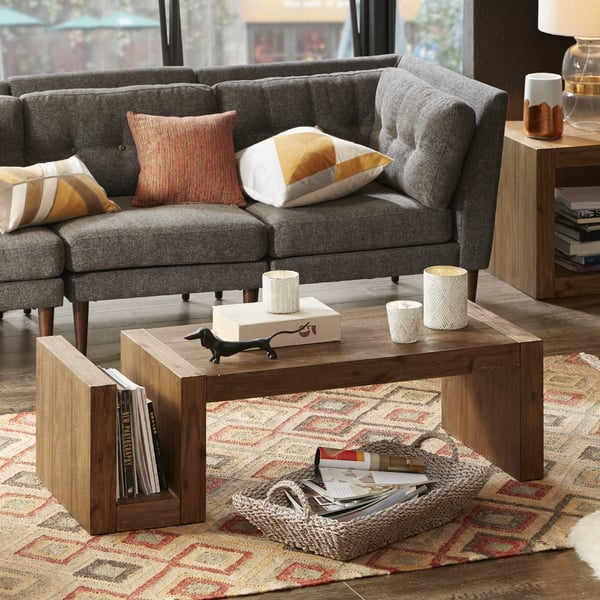Shop Ink+Ivy Zen Reclaimed Natural Rectangle Coffee Table ...