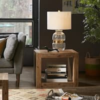 Ink+Ivy Zen Natural Reclaimed Wood Finish End Table