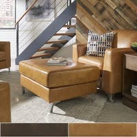 Bastian Aniline Leather Ottoman and Chair by iNSPIRE Q Modern