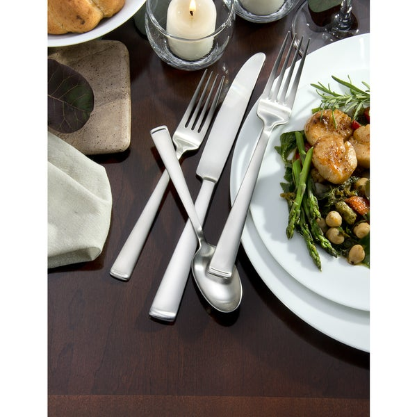 Oneida Satin Lewin Stainless Steel 65-piece Flatware Set (Service for 12). Opens flyout.
