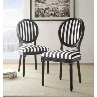 Baldwin Black And White Stripe Chair