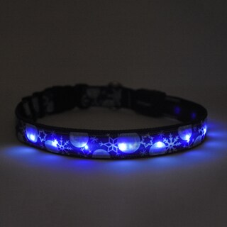 Yellow Dog Orion LED Collar - Winter Wonderland (Small to Extra Large)