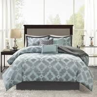 Madison Park Axel Aqua 7 Pieces Jacquard Comforter Set