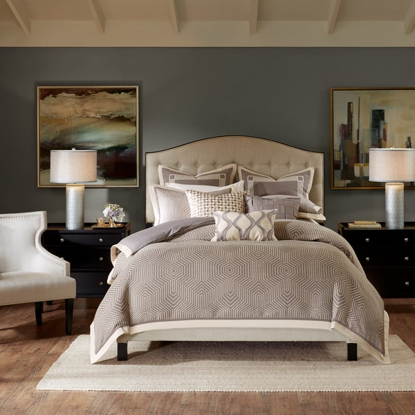 64105f08ff1c Madison Park Signature Shades of Grey Jaquard Comforter Set With A  Removable Insert