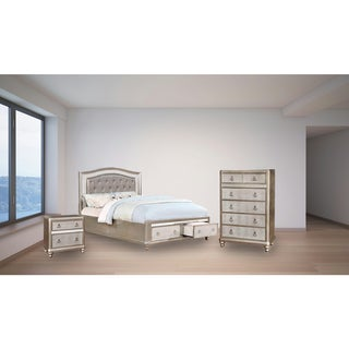 Silver Orchid Grant 3-piece Storage Bedroom Set