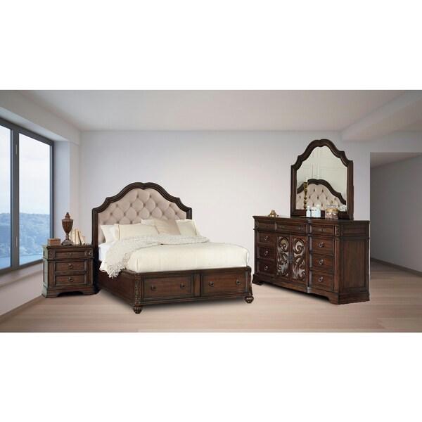 shop westchester java 4pc storage bedroom set - on sale - free