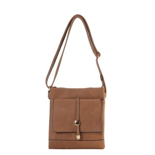 Rimen & Co. PU Leather Front Flap Pocket Cross Body Handbag