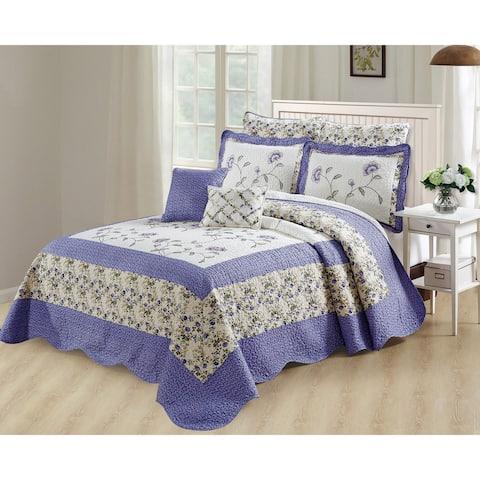 Serenta Oversized Saigon 7 Piece Bedspread Set, Queen and King