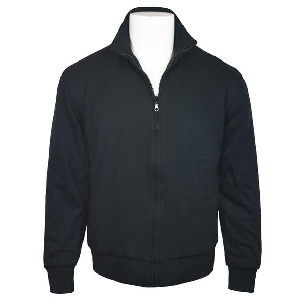 Victory Outfitters Mens Standing Collar Fleece Zip Jacket