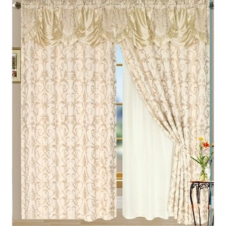 Luxury Sheered Curtains and Valance 84-inch (Set of 2)
