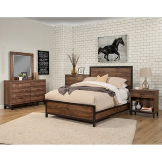 Alpine Origins Westin Brown Wood Platform Bed