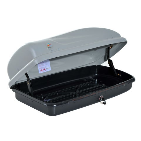 Aosom Seven Cubic Feet Hard Shell Rooftop Rack Luggage Carrier Cargo Box