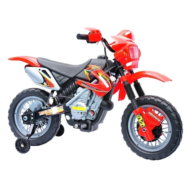 2476df6ff Qaba 6V Electric Kids Ride On Motocross Outdoor Recreation Dirt Bike - Red