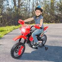Aosom 6V Kids Ride On Electric Motocross Dirt Bike - Red