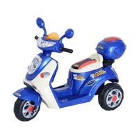 Aosom 6V Kids Ride On Electric Moped Scooter - Blue