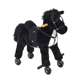 Qaba Plush Walking Horse Toy with Wheels and Sound|https://ak1.ostkcdn.com/images/products/18004664/P24175435.jpg?_ostk_perf_=percv&impolicy=medium