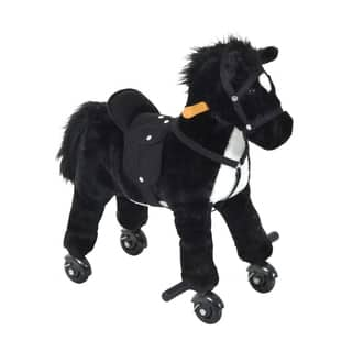 Qaba Plush Walking Horse Toy with Wheels and Sound|https://ak1.ostkcdn.com/images/products/18004664/P24175435.jpg?impolicy=medium