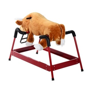 Link to Qaba Kids Plush Spring Rocking Horse Style Rodeo Bull with Realistic Sounds Similar Items in Bicycles, Ride-On Toys & Scooters