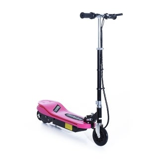 Aosom 120W Kids Folding Electric Scooter with LED Lights - Pink