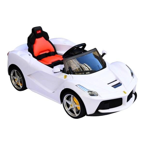 aosom 12v ferrari laferrari kids electric ride on car with mp3 and remote control white