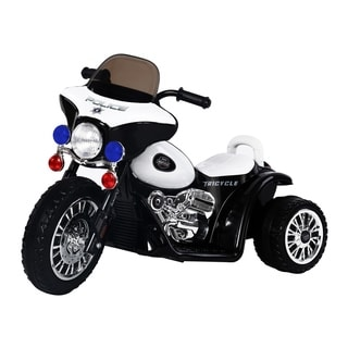 Aosom 6V Kids Ride On Police Motorcycle - White
