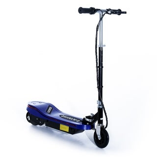 Aosom 120W Kids Folding Electric Scooter with LED Lights - Blue