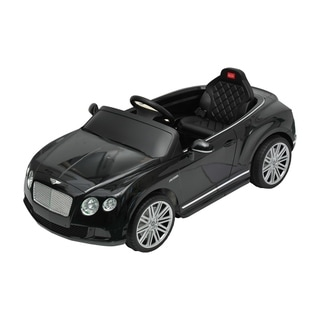 Bentley GTC Kids 6V Electric Ride on Toy Car with Parent Remote Control - Black