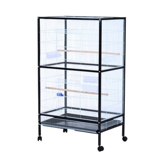 Pawhut Bird Flight Cage Stand