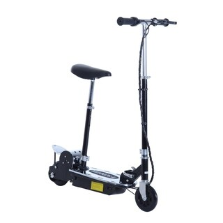 Aosom 120W Teen Folding Electric Scooter with Seat - Black