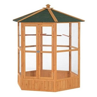 Link to Pawhut Hexagonal Outdoor Aviary Bird Cage Similar Items in Bird Cages