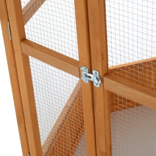 Pawhut Hexagonal Outdoor Aviary Bird Cage