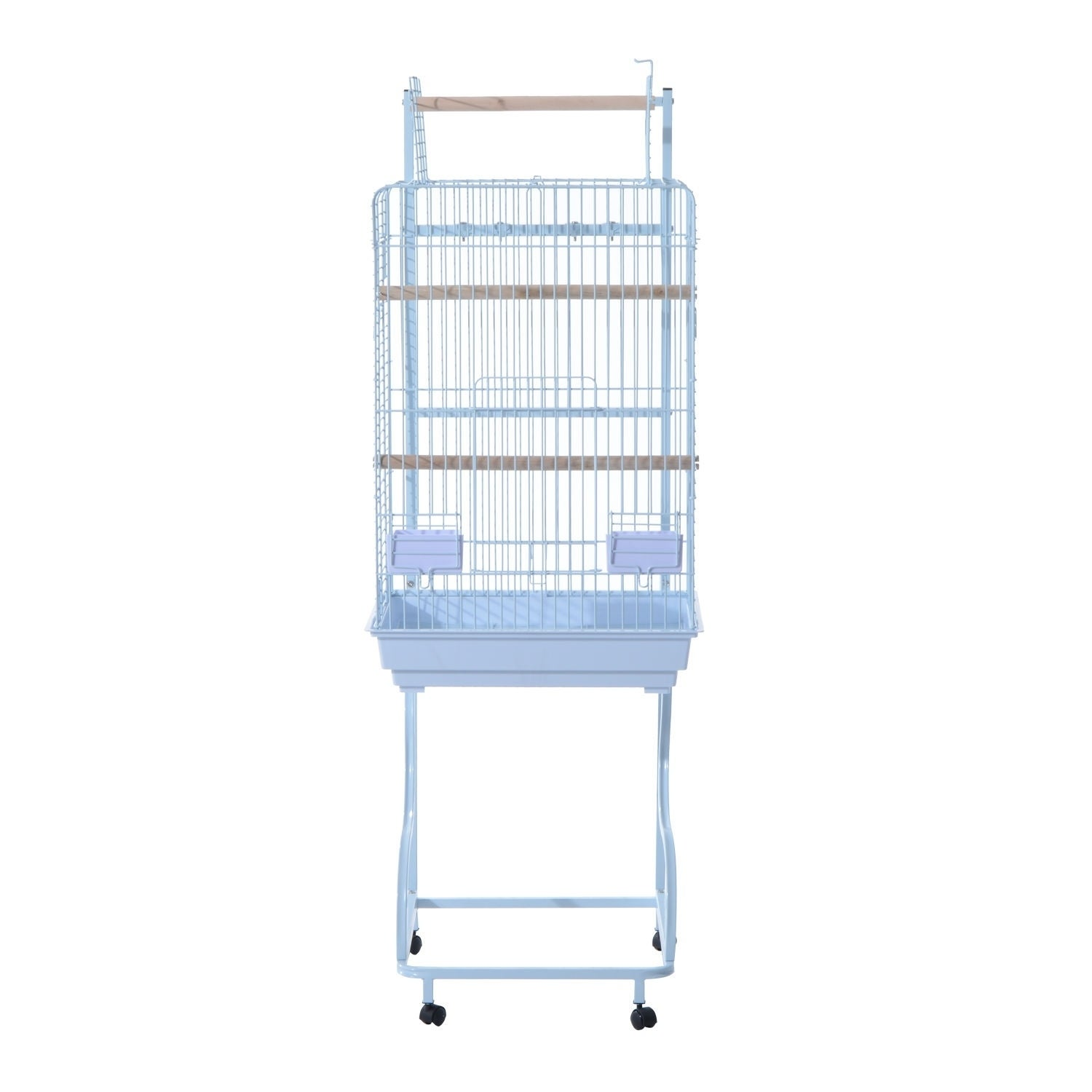 Pawhut Bird Cage, White, Size Medium