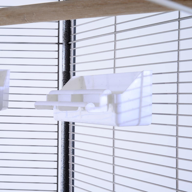 Aosom Pawhut Hexagonal Aviary Bird Flight Cage, White, Si...