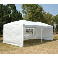Outsunny Easy Pop Up Tent with 4 Removable Sidewalls